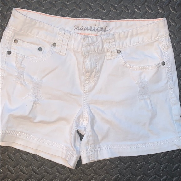 Maurices Denim Shorts - WHITE! Gently used